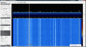 Spectrum Display of UKube-1 Pass
