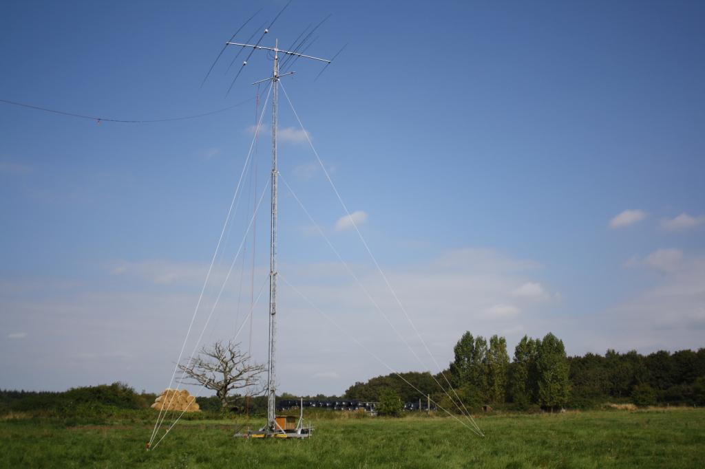 Antennas at G8PX/P