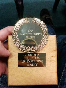 RSGB IOTA Multi-Op LP Expedition Trophy