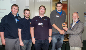 m0pcb, m0spf, m0mjh & 2e0sql collecting the RSGB IOTA Multi-Op LP Expedition Trophy