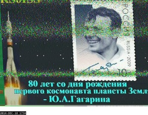 17:34z on the 18/12/2014 SSTV image from the ISS