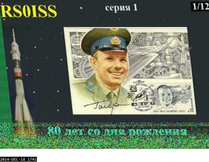 17:41z on the 18/12/2014 SSTV image from the ISS