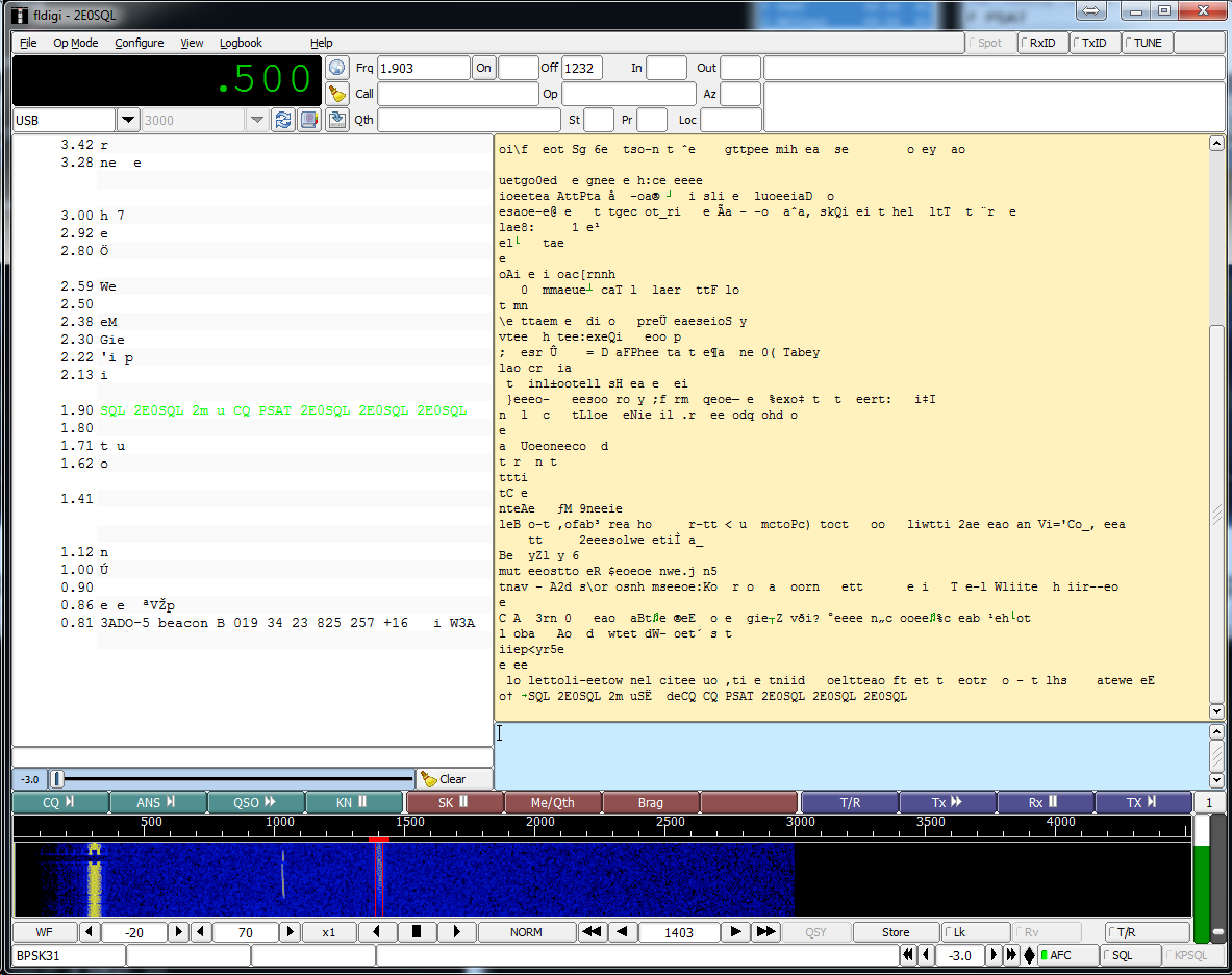 Screenshot of FL-Digi showing Multi Decoder
