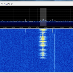 Screenshot from SDR# during the Tim Peake contact from the ISS on the 8/1/2016